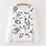 Susan1999 Autumn Winter Sweater Floral Print Pullover Loose Women Cotton Sweater Lady Casual Coat Outwear na57 XL