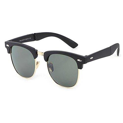 fatigue de et Charnière Rtero Classique soleil Anti soleil Cadre de Homme Femme Portable Lunettes Plier Hzjundasi C5 Des pour UV lunettes Mode Anti axpwv8H