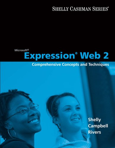 Download Microsoft Expression Web 2: Comprehensive Concepts and Techniques (Shelly Cashman) Pdf