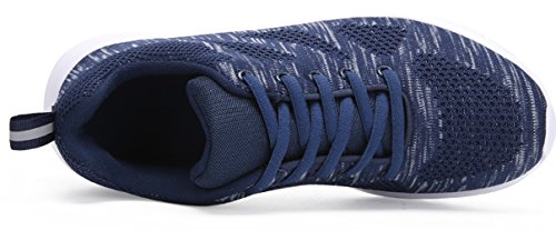 Dear-Queen Mens Running Shoes Fashion Breathable Sneakers Mesh Soft Sole Casual Athletic Lightweight Navy CKu3q