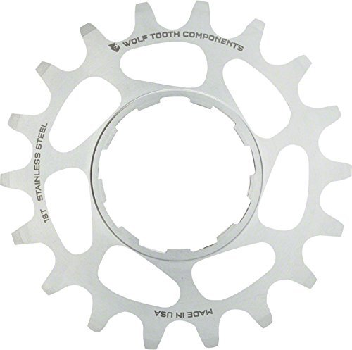 Wolf Tooth Components Single Speed Stainless Steel Cog: 20T, Compatible with 3/32