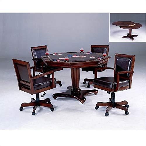 Hillsdale Furniture Ambassador Game Table, Medium Brown Cherry by Hillsdale Furniture