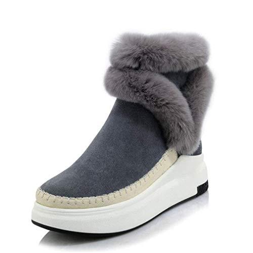 Comfort Comfort Stivali Inverno Stivaletti Donna Slip Slip Slip Neve Da Stivali Fondo Gray Da Plus Moda Donna Ons Antivento Stivaletti Cachemire Scarpe Caldi Spesso qfnStH