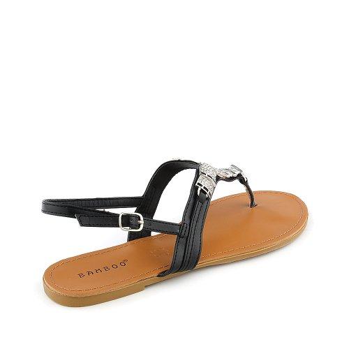 Sandalo Da Donna In Bambù Nero
