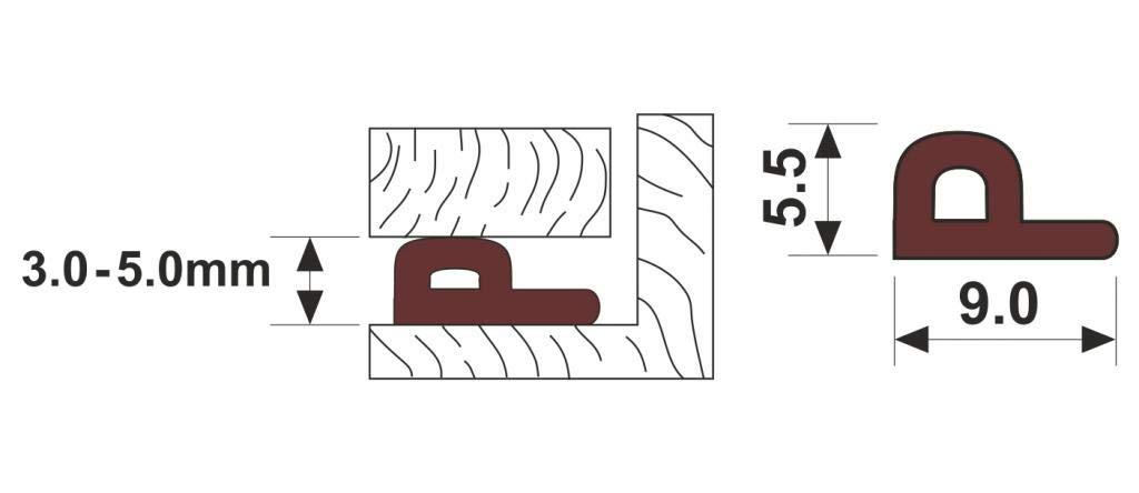 wei/ß 10 m Assortiment de profils E P D Boudin de porte Silicone /Weatherbar Sills de EPDM Joint d/étanch/éit/é en caoutchouc pour fen/être ou porte rouleau en mousse et bande Profile E