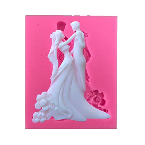 Bride&Bridegroom Silicone Moulds Fondant Cake Moulds Chocolate Jelly Biscuit Mold Kitchen Tools]()