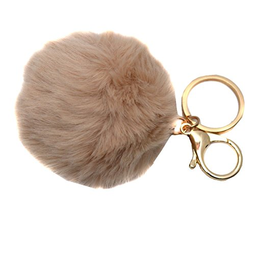 melie-bianco-girls-tan-faux-pom-pom-fluffy-keychain