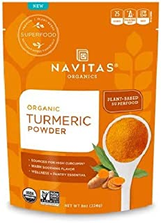 product image for NAVITAS ORGANICS, TURMERIC POWDER, Pack of - 6, Size - 8 OZ, SUPPLEMENTS, SUPPLEMENTS, SPECIALTY 100% Organic Gluten Free No Artificial Ingredients No Refined Sugar