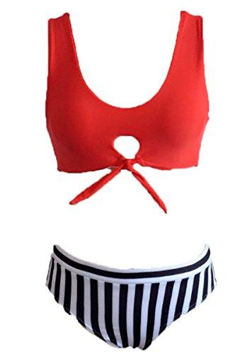 A Spiaggia Costumi Bagno Donne Reggiseno Bikini Costume Bagno Impostato Del Imbottito Da Beachwear Liwell Fascia Tribale Da Da Bikini Bagno Del Monokini Del Rossa Costume Bikini ndgY0BqIw