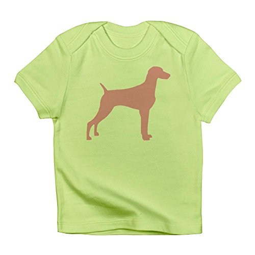 CafePress - Pink Weimaraner Infant T-Shirt - Cute Infant T-Shirt, 100% Cotton Baby Shirt