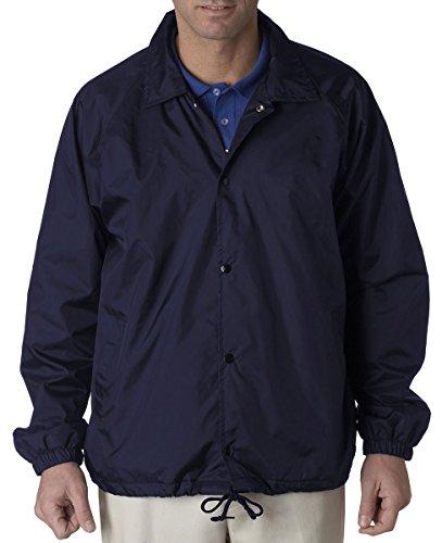 - UltraClub 8944 Adult Nylon Coaches' Jacket Navy XXX-Large