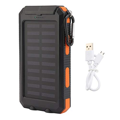 300000mAh Lazy Dual USB Portable Emergency External Battery Charger Ultra Slim Mobile Phone Solar Power Bank ()