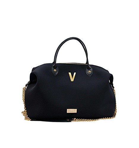 Borsa Bauletto Medium In Neoprene Con Iniziali - nero, V