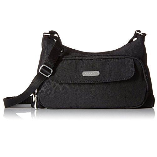 Baggallini Handbag Crinkle Shoulder Purse w Key Chain (Adobe)