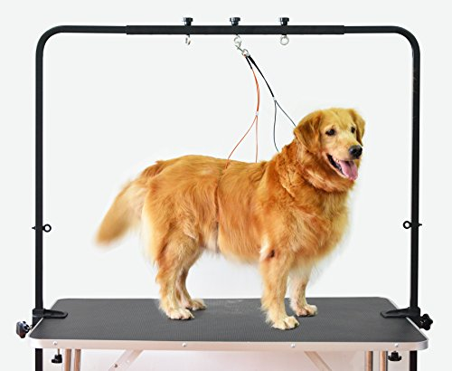 (SHELANDY Adjustable Overhead pet Grooming arm with Clamps and Harness - for Dog Grooming Table)