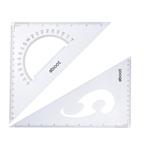 eBoot Large Triangle Ruler Square Set, 30/60 and 45/90 Degrees, Set of 2 by eBoot (Image #1)