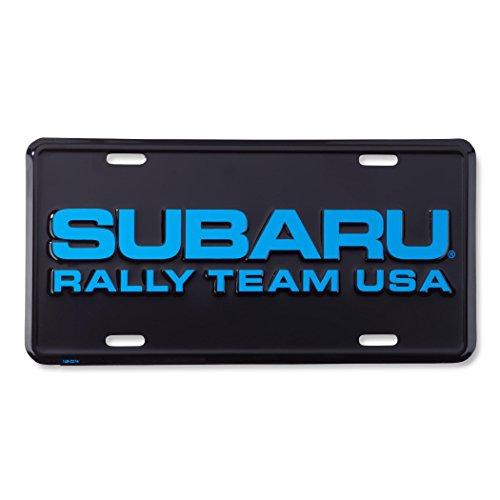 Plate Rally (Subaru WORLD RALLY TEAM USA OFFICIAL LICENSE PLATE WRX STI JDM IMPREZA GENUINE)