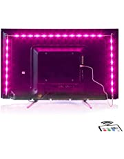 2M LED TV Backlight USB Bias Lighting with 16 Colors and 4 Dynamic Mode for 40 to 60 Inch HDTV,PC Monitor,Led Light Strip.(4pcs x 50cm Led Strips) [Energy Class A+]