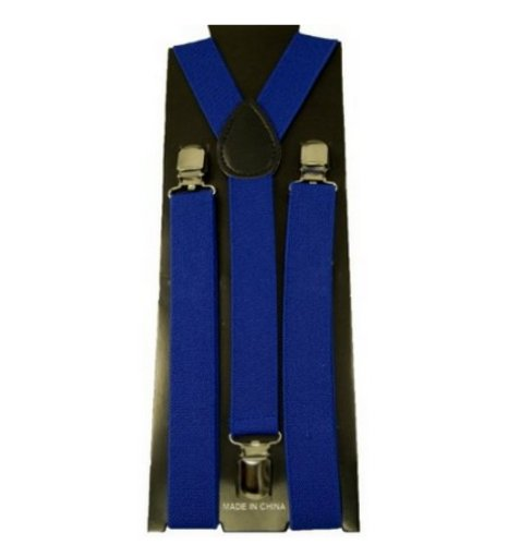 Unisex Clip-on Elastic Y-shape Suspenders – Royal Blue