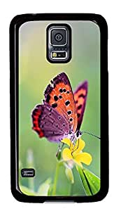 Samsung S5 personalize cases Butterfly Id06 PC Black Custom Samsung Galaxy S5 Case Cover