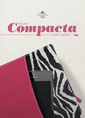 RVR 1960 Biblia, Edición Compacta con cierre, fucsia/cebra símil piel (Spanish Edition)