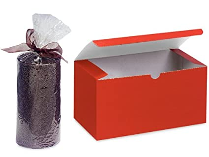 Cajas de regalo RED GLOSS 6x4.5x4.5 Tinte brillante 100% reciclado -