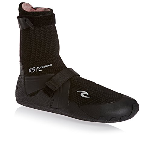 Rip Curl Flashbomb 7MM Round Toe Wetsuit Boots - Unisex with Flash Thermal Lining (Rip Curl Flash Bomb Wetsuit)
