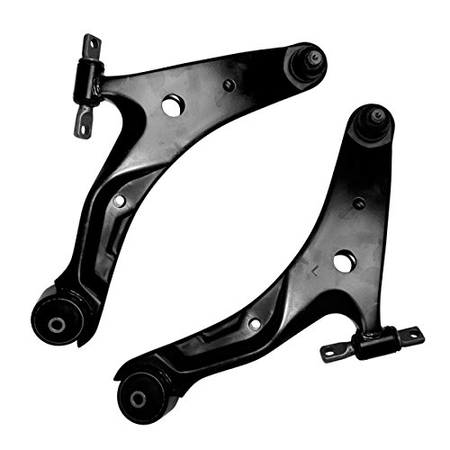 Detroit Axle - Both (2) Front Lower Driver & Passenger Side Control Arm and Ball Joint Assembly for - 2001 2002 2003 2004 2005 2006 Hyundai Santa - Arm Mount Bushing Control