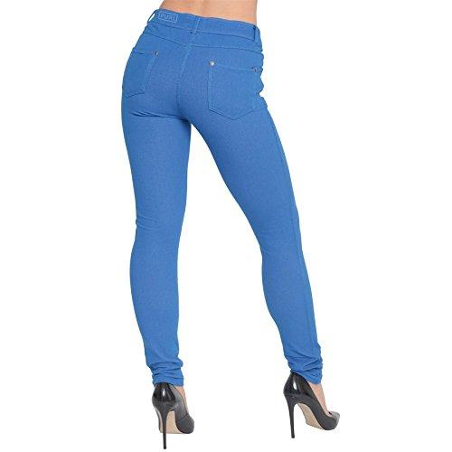 Para Azul Real Básico Jegging Purl Leggings Mujer Oaqfx76