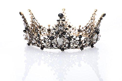 (LittleB Baroque Bridal Crown Rhinestone Wedding Tiaras Boutique Headdress.)