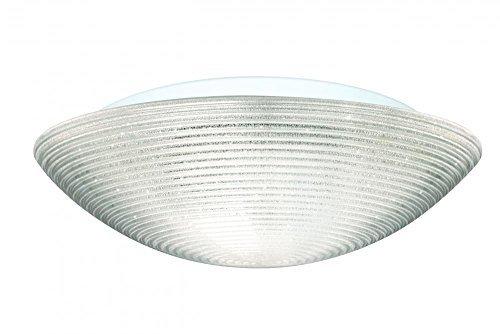 Besa Flush Light (Besa Lighting 9116GLC 3X60W A19 Glitter 15 Ceiling Flush Mount Light Fixture by Besa )
