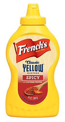 (French's, Classic Yellow Flavored Mustard, 14oz Bottle (Pack of 2) (Choose Flavors Below) (Spicy))