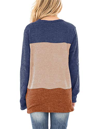 SAMPEEL Womens Casual Tunic Tops Twist Knot Pullover Shirts