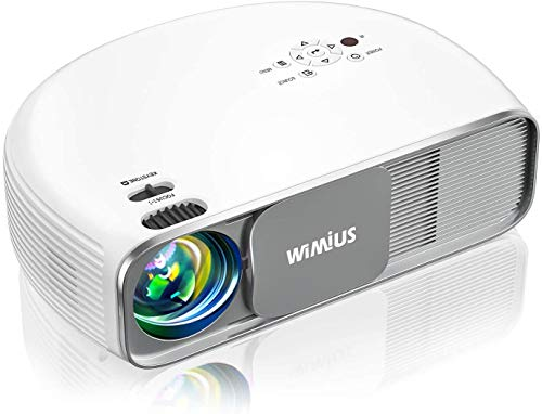 WiMiUS S4 Bluetooth Projector 8000L Full HD, Native 1080P & Support Wireless Mirroring with WiFi Dongle / Zoom, Home & Outdoor Movie Projector Video Projector for Fire Stick, HDMI, USB,TV Box, Laptop