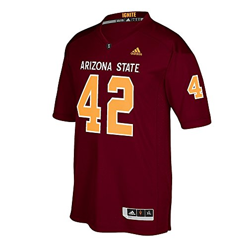 adidas Pat Tillman Arizona State Sun Devils NCAA Maroon Official Special Games Premier Jersey for Men (3XL)