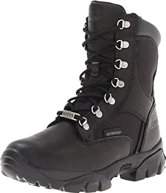 Bates Women's Derby Motorcycle Boot,Black,6 M US