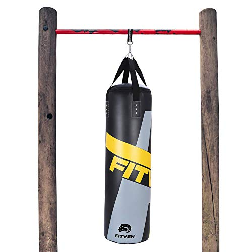FITVEN Punching Bag for Adults Kids, Indoor/Garden Boxing Bag, Heavy Bag for MMA, Kickboxing, and Muay Thai - 45LB