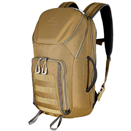 Aione Tactical Backpack Small Military Daypack Army Bag Assault Pack with Hard Shell Top Pocket for Men Boys