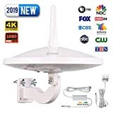 ANTOP UFO 720°Dual-Omni-Directional Outdoor HDTV Antenna with Exclusive Smartpass Amplifier &4G LTE Filter,Enhanced
