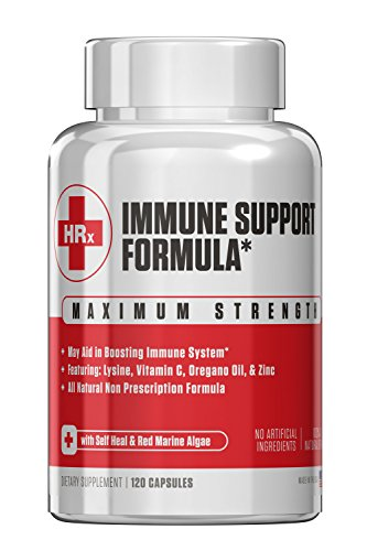Immune Support Formula (Herp Rescue Discreet) The #1 Solution for the Common Cold, Cold Sores, Herpes, and Shingles. L Lysine, Zinc, Vitamin C, Oregano Oil (Best Antiviral Supplements For Herpes)