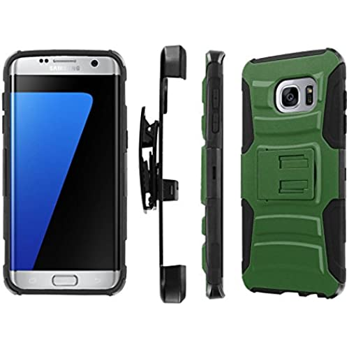S7 Edge / GS7 Edge [5.5 Screen] Case, [NakedShield] [Black/Black] Heavy Duty Holster Armor Tough Case - [Forest Green] for Samsung Galaxy S7 Edge / GS7 Edge [5.5 Sales