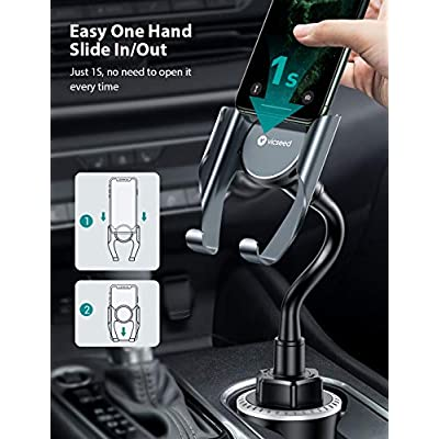 VICSEED Cup Holder Phone Mount, Easy and Sturdy Cup Phone Holder for Car, Flexible Gooseneck Car Phone Mount Fit for iPhone SE 9 11 Pro Max Xr Xs Max 8 7 6 Plus, Samsung S20 S10 S9 Note 10 etc.