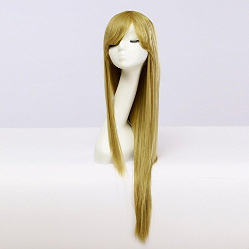 Mad Men Costume Diy (Fashion Women Long Straight Hair Cosplay Costume Party Full Natural Wigs (Gold))