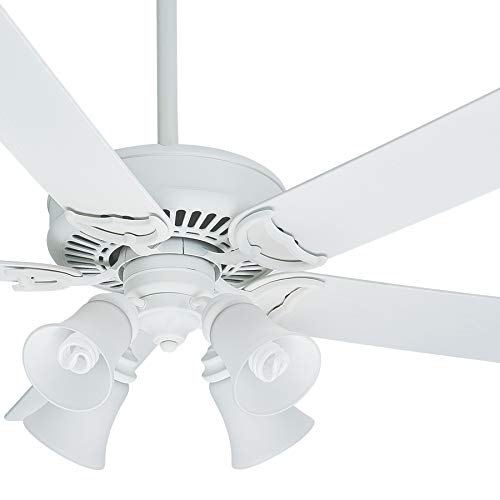 - Casablanca Fan 54 inch Traditional Architectural White Damp Ceiling Fan with Light Kit (Certified Refurbished)