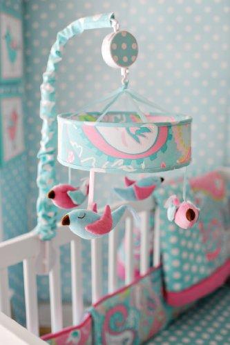 Aqua Baby Bedding (My Baby Sam Pixie Baby Mobile, Aqua)