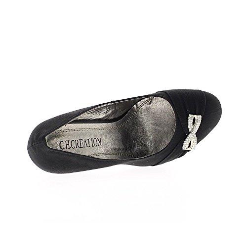 Escarpins noirs mat à talons de 11cm et plateforme de 2cm