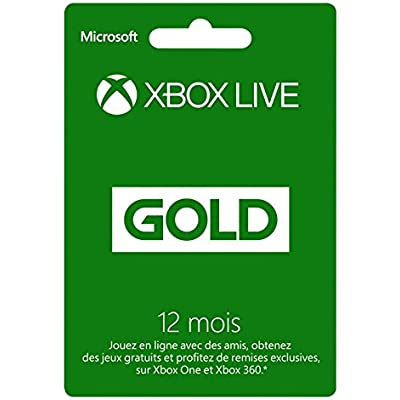 Microsoft Xbox 360 LIVE 12-Month Gold Subscription Card, FR - accesorios de juegos de pc (FR)
