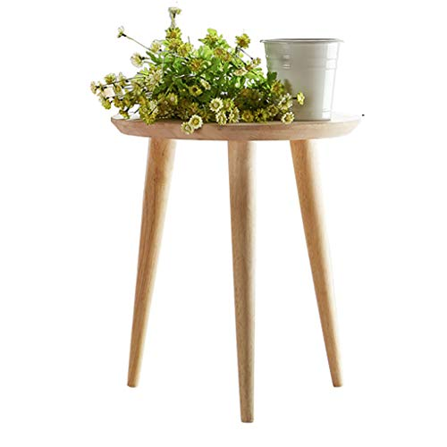 - SACKDERTY End Table Bedside Nightstand or Living Room Side/Accent Table - Round Tabletop 3 Bamboo Legs