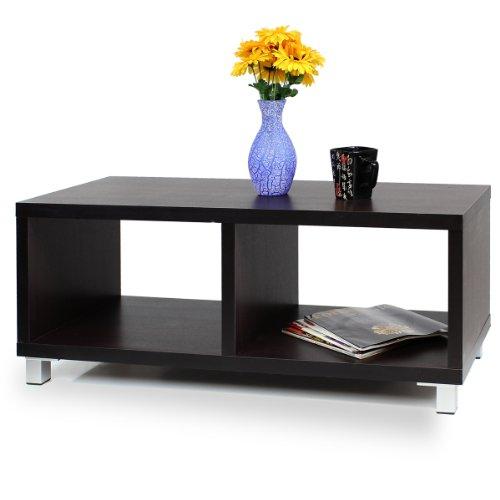 Furinno XBF65-E Nihon Dual-Function Contemporary TV Stand/Coffee Table, Espresso