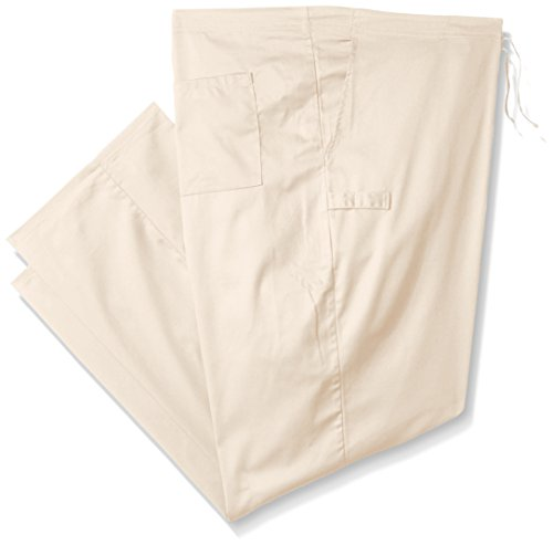 Cherokee Mens Big Ww Flex With Certainty Unisex Natural Rise Drawstring Pant  Khaki  5X Large